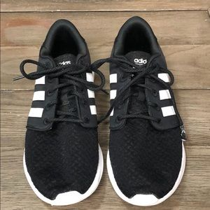 adidas Shoes - Adidas cloudfoam black sneakers size 9.5